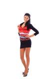 Bella giovane donna in vestito Immagine Stock Libera da Diritti