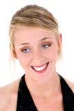 Bella giovane donna in vestito convenzionale nero Fotografie Stock