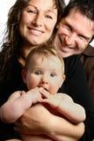 Bella giovane famiglia fotografie stock