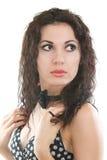 Bella giovane ragazza del brunette Immagini Stock Libere da Diritti
