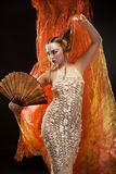 Bella giovane ragazza di geisha Fotografia Stock