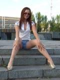 Bella giovane ragazza sessuale Fotografia Stock