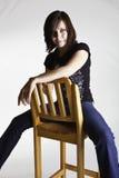 Bella giovane signora Fotografie Stock