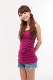 Bella giovane signora asiatica. Fotografie Stock