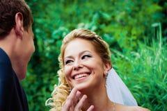 Bella giovane sposa Fotografie Stock