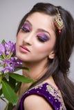 Bella giovane sposa indiana Fotografie Stock