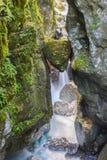 Bella gola di Tolmino, Slovenia immagini stock libere da diritti