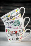 Bella grande tazza per la festa della mamma e l'8 marzo Fotografia Stock Libera da Diritti