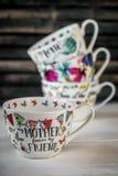 Bella grande tazza per la festa della mamma e l'8 marzo Immagine Stock