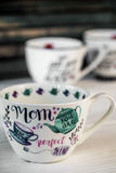 Bella grande tazza per la festa della mamma e l'8 marzo Fotografie Stock