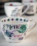 Bella grande tazza per la festa della mamma e l'8 marzo Immagine Stock Libera da Diritti