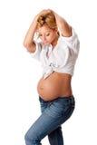 Bella gravidanza di modo Fotografia Stock