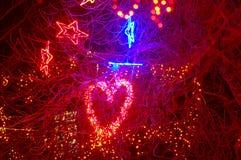 Bella illuminazione di festa Immagini Stock