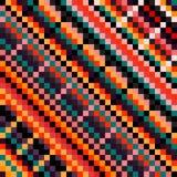 Bella illustrazione colorata di vettore del modello del pixel Fotografia Stock