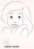 Bella illustrazione della ragazza Immagini Stock