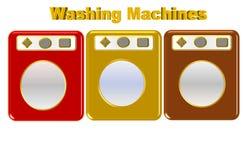 Bella illustrazione di varia lavatrice colorata illustrazione vettoriale