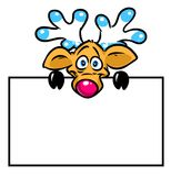 Bella illustrazione divertente del fumetto del piatto dei cervi Immagine Stock