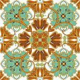 Bella illustrazione ornamentale senza cuciture di vettore del fondo delle mattonelle Fotografia Stock