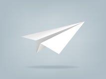 Bella illustrazione realistica dell'aereo di carta Fotografia Stock