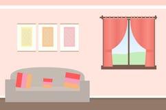 Bella illustrazione semplice del fondo della stanza illustrazione vettoriale