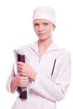 Bella infermiera dei giovani Fotografia Stock
