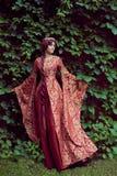 Bella Isabella della Francia, regina dell'Inghilterra sul periodo di medio evo immagini stock libere da diritti