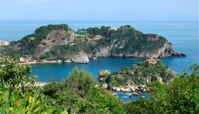 bella isola西西里岛taormina 免版税库存图片