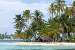 Bella isola di paradiso, San Blas Fotografia Stock Libera da Diritti