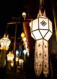 Bella lanterna tailandese di stile, Chiang Mai, Tailandia fotografia stock libera da diritti