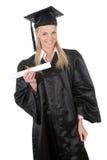 Bella laurea dell'allievo femminile Fotografia Stock Libera da Diritti