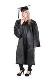Bella laurea dell'allievo femminile Immagini Stock