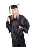 Bella laurea dell'allievo femminile Fotografie Stock