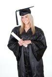 Bella laurea dell'allievo femminile Fotografia Stock