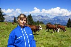 Bella lavoratrice agricola fotografia stock libera da diritti