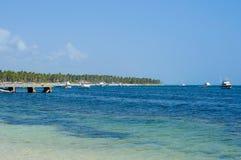 Bella linea costiera caraibica Immagine Stock