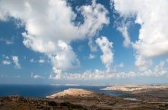 Bella linea costiera di Malta Fotografie Stock