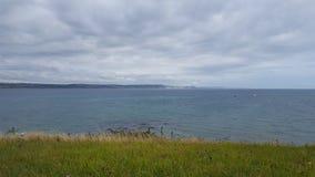 Bella linea costiera di Weymouth fotografia stock