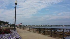 Bella linea costiera a Gloucester fotografia stock