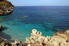 Bella linea costiera siciliana Fotografia Stock Libera da Diritti