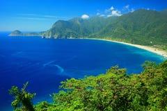 Bella linea costiera in Yilan, Taiwan Fotografie Stock