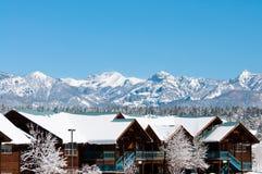Località di soggiorno di montagna della neve Fotografia Stock Libera da Diritti