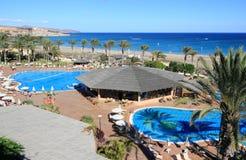 Bella località di soggiorno a Fuerteventura, isole Canarie. Immagine Stock Libera da Diritti