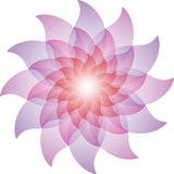 Bella Lotus Flower Icon porpora illustrazione vettoriale