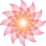 Bella Lotus Flower Icon rosa illustrazione di stock