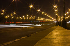 Bella luce alla strada principale Immagini Stock