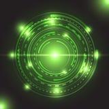 Bella luce d'ardore verde del cerchio Immagine Stock Libera da Diritti