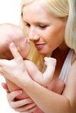 Bella madre con la sua figlia. fotografia stock