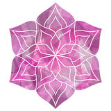 Bella mandala geometrica del fiore Fotografia Stock