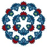 Bella mandala Modello ornamentale rotondo illustrazione vettoriale