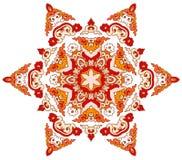 Bella mandala Modello ornamentale rotondo illustrazione di stock